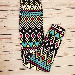 Multi Color print leggings